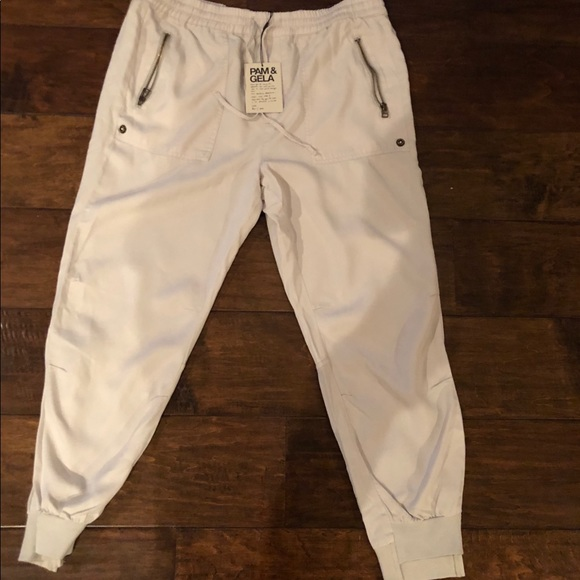1eb2222931949 Pam & Gela Pants | Pam Gela Off Set Cuff Tencell Pant Oyster Large ...